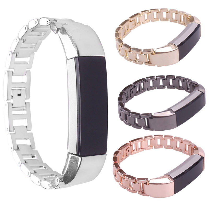 for Fitbit alta HR Adjustable Replacement Stainless Steel Strap Hollow Design Smart Watch Band Accessories Bracelet Sports New