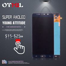 OTMIL 5.7 Burn Shadow LCD For SAMSUNG GALAXY Note 5 Display Touch Screen Digitizer N9200 N920F N920T