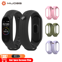 Mijobs Silicone Wrist Strap Mi Band 4 Accessories for Xiaomi Mi Band 3 Smart Watch Bracelet Band3 Sport Wristbands Miband 4 Band