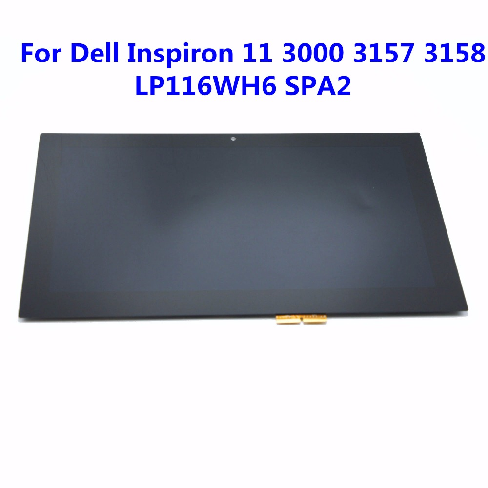 """New 11.6"""" LCD Touch screen Glass Digitizer Assembly For Dell Inspiron 11 3147 3148 3000 3157 3158 3152 3153 i3153 LP116WH6 SPA2"""