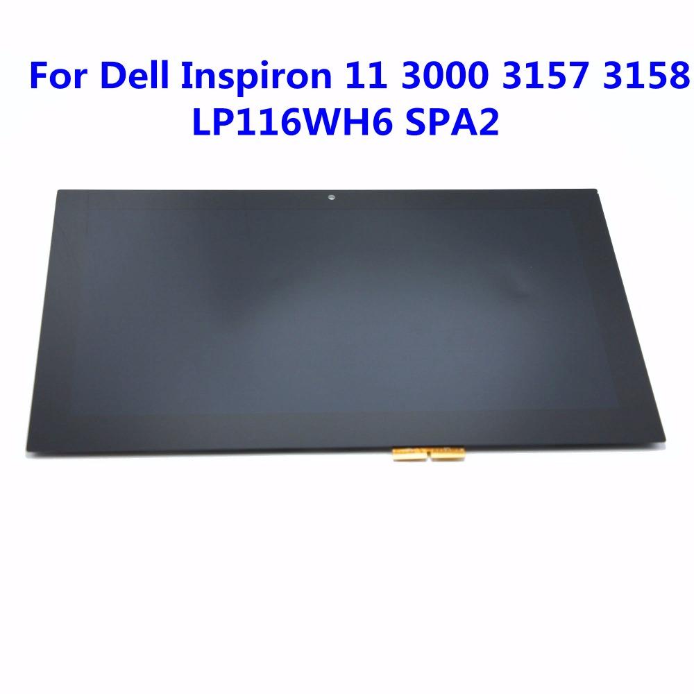 """Prix pour Nouveau 11.6 """"LCD écran Tactile En Verre Digitizer Assemblée Pour Dell Inspiron 11 3147 3148 3000 3157 3158 3152 3153 i3153 LP116WH6 SPA2"""