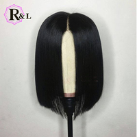 RULINDA Stock Short Lace Front Human Hair Wigs For Women Pre Plucked Brazilian Remy Hair Lace