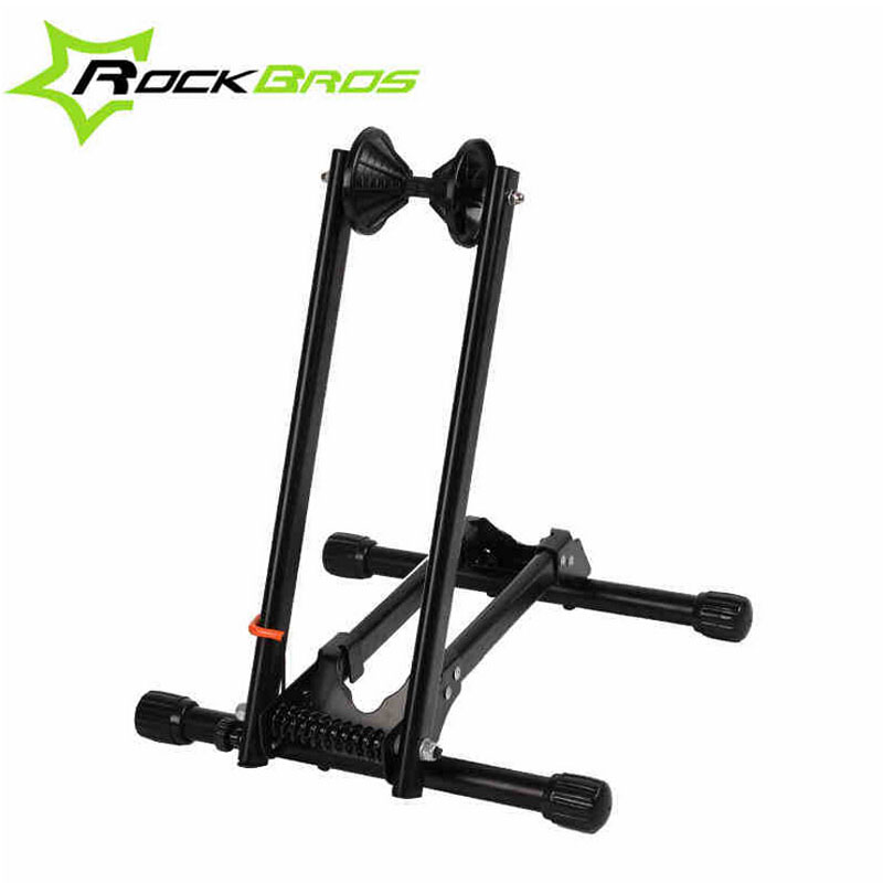 RockBros Bicycle Rack Folding Floor Parking Rack Cycle Stand Bike Kickstand Storage Cycling Bicycle Holder Bicycle Stop Rack 13 rockbros titanium ti pedal spindle axle quick release for brompton folding bike bicycle bike parts