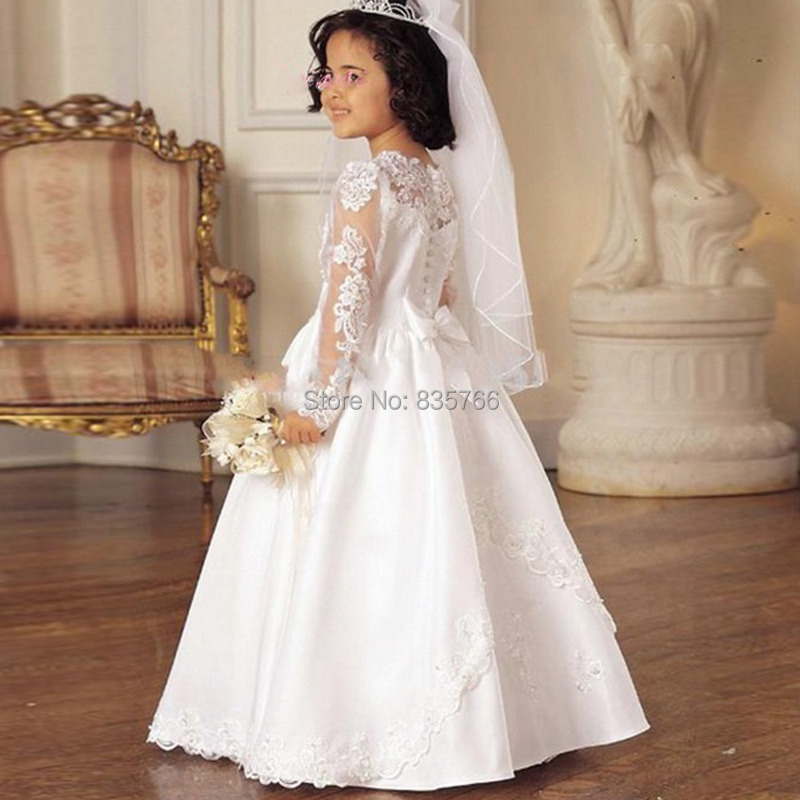 Aliexpress.com : Buy vintage lace flower girl dresses Long Sleeve ...