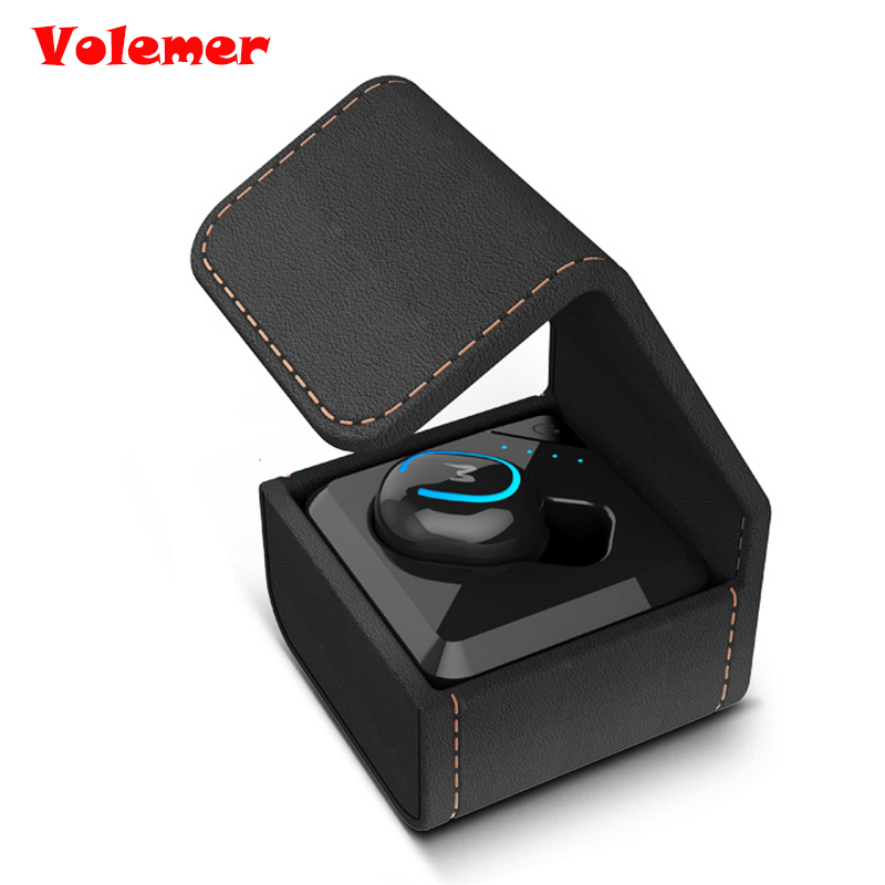 Volemer Q3 Mini Wireless Bluetooth In-Ear Earphone Invisible Single Earbuds Microphone Hands-free  with Chargeable for phone mini wireless in ear micro earpiece bluetooth earphone cordless headphone blutooth earbuds hands free headset for phone iphone 7