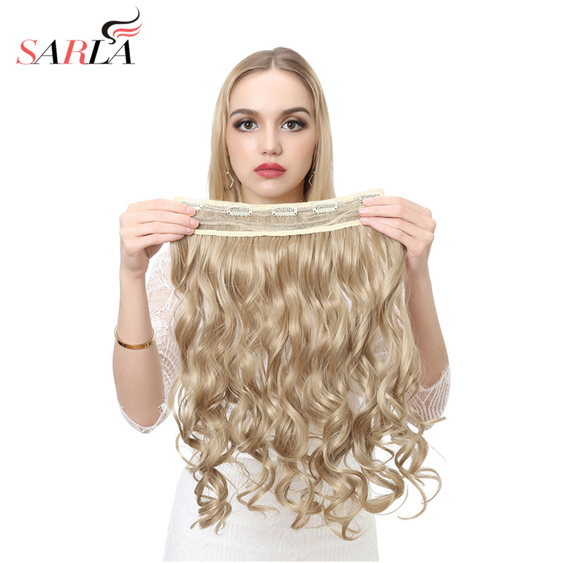 Online get cheap hair extensions 888 aliexpress alibaba group sarla 20 34 synthetic long natural clip in hair extensions high temperature curly pmusecretfo Images