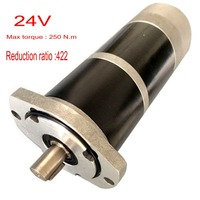 DC24V 35W max torque 250 reduction ratio422 brush dc gear motor with speed regulation for mechanical equipment