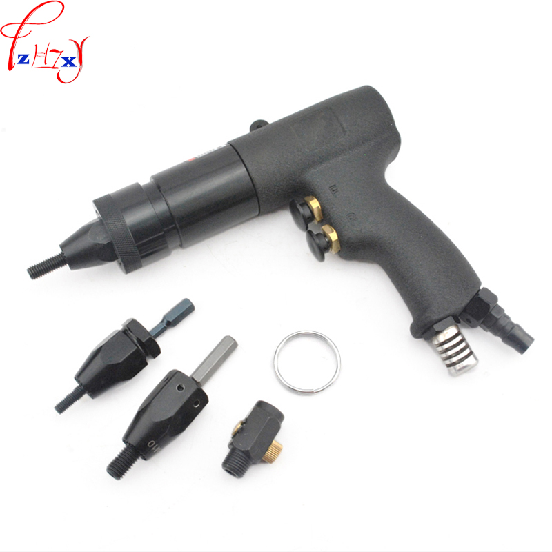 1pc Pneumatic Riveting Nut Gun M6/M8/M10 Self-locking Pneumatic Riveting Gun HG-0610  Air Rivet Nut Gun Tool