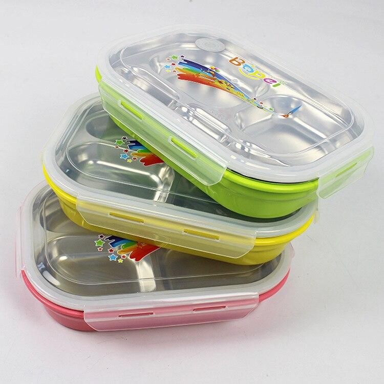 1 개 고품질 스테인레스 스틸 304 어린이 스타일 점심 보 전자 레인지 도시락 상자. (00184)