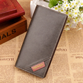 Hot Sale 2015 New Fashion Design  Men Wallets 4 Colors SIM Card Bit Quality PU Leather  Large Style Wallet Card Holder Purse 084