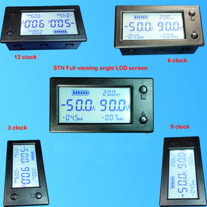 Image 3 - 50A 100A 200A 400A STN LCD Hall Coulomb Meter Counter Voltage Current AMP Capacity Indicator Display eBike Car Isolation Monitor