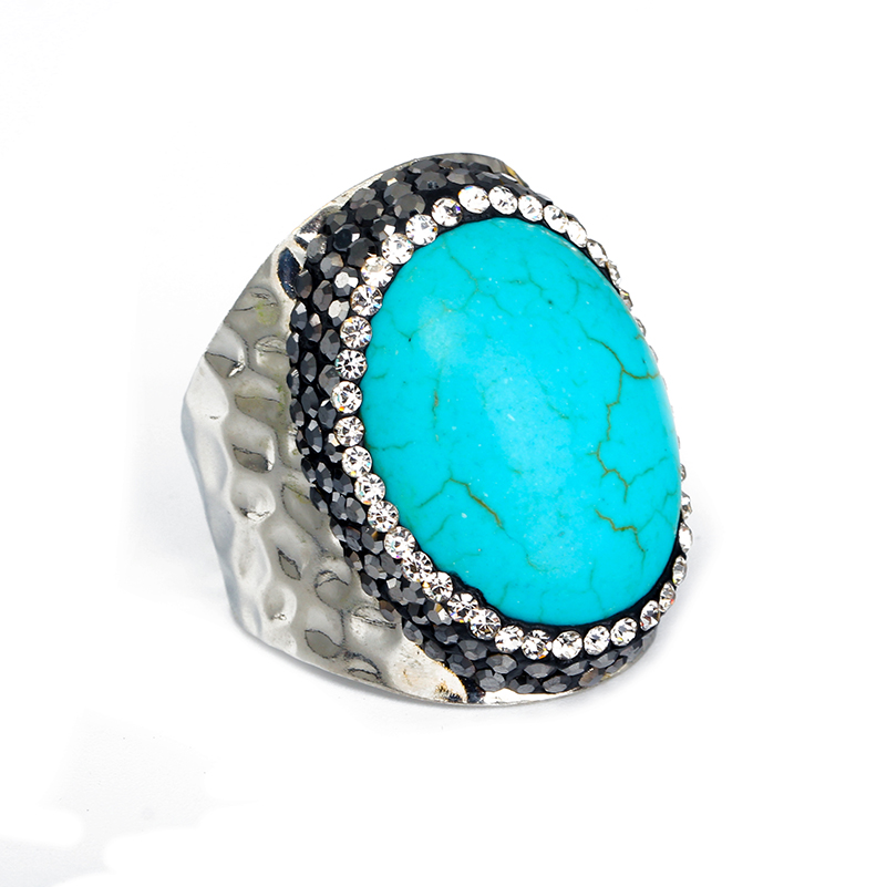 Luxury Designer Jewelry: Luxury Design Jewelry Natural Oval Blue Turquentine Stone