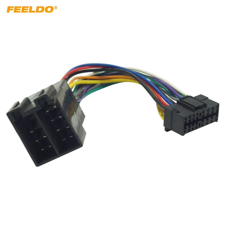 FEELDO Car Stereo Radio Wire Harness Adapter For Sony 16 Pin ... 16 pin car audio connector diagram AliExpress