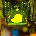 3D Птица Ночные Огни LED Портативный Сенсорное Управление Творческий Клетка Форма USB Аккумуляторная С Ручкой Спальня Лампы Быстрая доставка