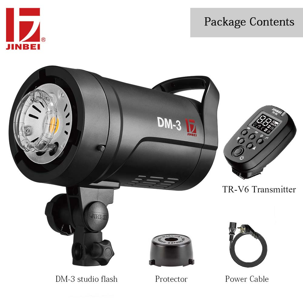 JINBEI DM 3 300 Вт компактный студийный комплект для фотовспышки с TR V6 трансмиттером Светодиодная лампа для моделирования 110В 220В Bowens Mount Portrait