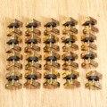 20 Unids Oro Bisagras Del Gabinete Muebles Accesorios Pequeña Caja De Regalo De Madera Decorativos Bisagras de Montaje de Hardware de Los Muebles 19x18mm