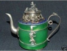 design antique monkey dragon green tea silver dragon jade Tibet  tools wedding Decoration Brass