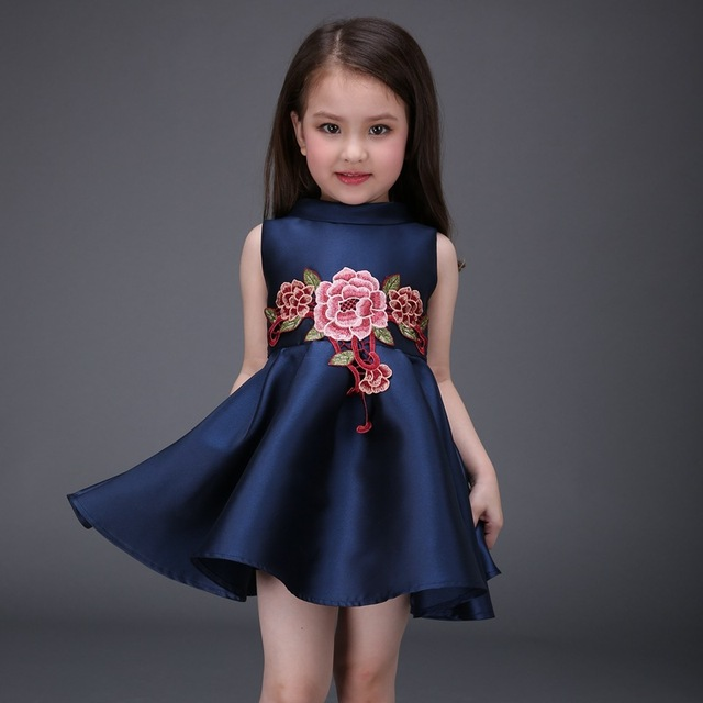 b2b23d352 Fashion 2016 Tutu Embroidery Children Toddler Flower Girls Dresses Summer  Casual Vestidos De Festa Kids Clothes Princess NTQ003