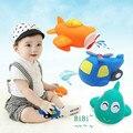 3 Unids/lote Bebé niños niño Avión de juguete de baño pulverización de agua squeeze inflable juguetes brinquedos jouet bebes de bain menino banho