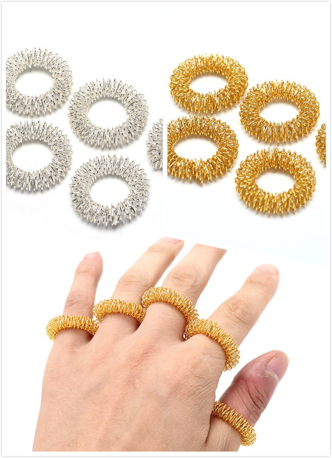 5pcs/Lot Hot Sale Finger Massage Ring Acupuncture Ring Health Care Body Massager Relax Hand Massage Finger lose Weight-in Massage & Relaxation from Beauty & Health