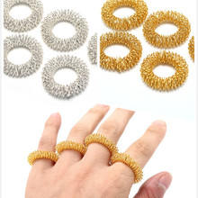 5pcs/Lot Hot Sale Finger Massage Ring Acupuncture Ring Health Care Body Massager Relax Hand Massage Finger lose Weight
