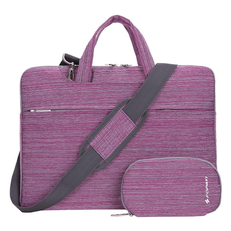11 inch Laptop Bag Notebook Shoulder Messenger Bag Men Women Handbag Sleeve for (Suit Purple)