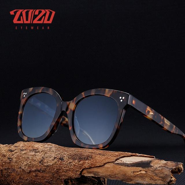 20/20 Brand Fashion Polarized Sunglasses Women Men Acetate Classic Sun Glasses Driving Unisex Eyewear Oculos AT8048