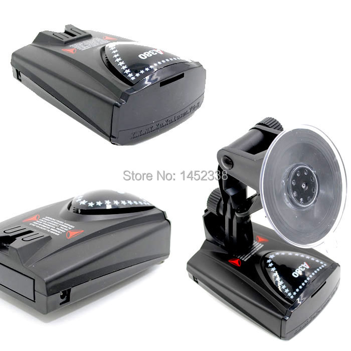Car anti speed Radar Detector 360 Voice Alert Russian or English Voice Radar Detector Free Shipping