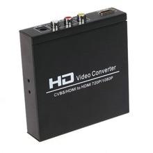 AV+HDMI TO HDMI converter 480I(NTSC)/576I(PAL)  to 720P/1080P AV and HDMI Switcher hdmi output