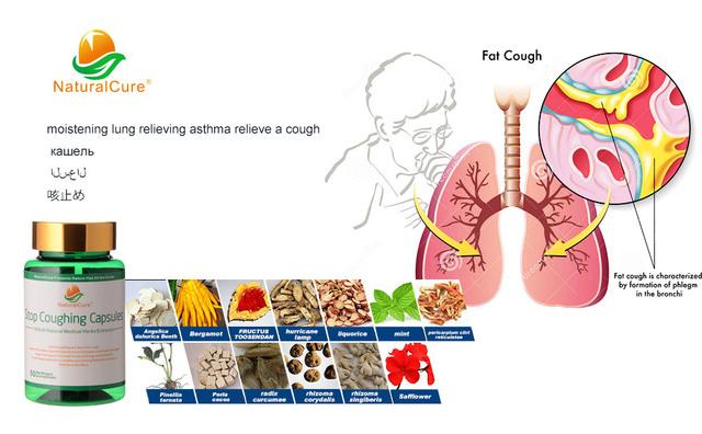 Detener La Tos NaturalCure Caps-dulos, contra la Tos de medicina-icine, Ingredientes Orgánicos de Plantas naturales, Sin Efectos Secundarios, eficaz!