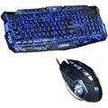 Tri Farbe LED Backlit Professionelle Gaming Tastatur Gaming Tastatur Maus Combo 6 Farbe Hintergrundbeleuchtung Gaming Maus für PC Desktop