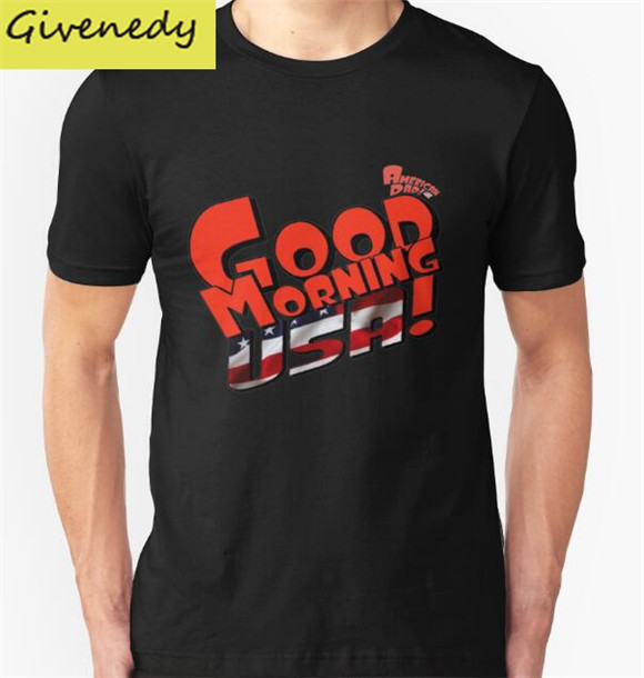 Good Morning USA T font b Shirts b font font b Men b font Short Sleeve