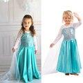 Vestidos de niña de bebé de la muchacha ropa elsa bodas partido de manga larga para niños ropa de niños vestido de la princesa vestido de encaje para las niñas