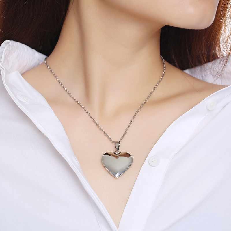 Закрытое Сердце ожерелье Персонализированная Подвеска из нержавеющей стали индивидуальный тег I Love You To The Moon Charm подарки для девочек