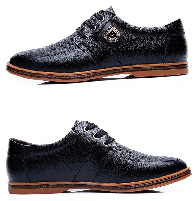HTB18XaRXzgy uJjSZLeq6yPlFXai 2019 Men Leather Casual Shoes Men's Lace Up Footwear Business Adult Moccasins Male Shoes Chaussure Home