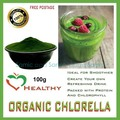 100g (3.5 oz) Organic Chlorella Powder, Broken Wall Best Available Quality Carotenoids and Protein, Balance Blood Pressure