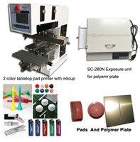 desktop 2 color pads shuttle double color ink pad printer