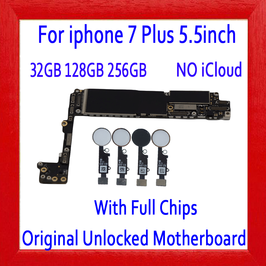 Factory unlocked for iphone 7 Plus font b Motherboard b font without Touch ID With Touch