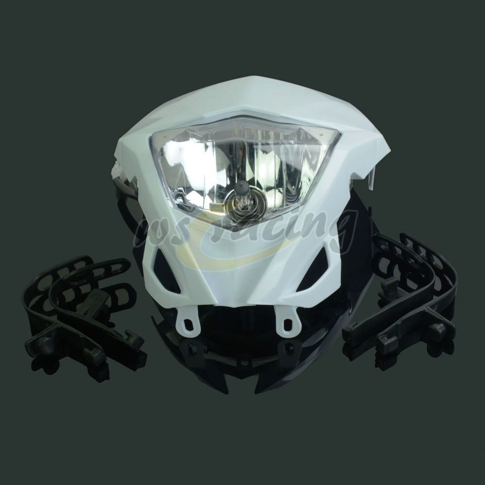 Motorcycle Universal Headlights Headlamp For KTM EXC CRF YZF WRF KXF RMZ RMX DRZ Dirt Bike