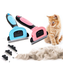 Removable Pet Cat Comb Kitty Hair Deshedding Brush Dog Remover Combs Kitten Grooming Tool for Short Medium Pets Cats Hairs