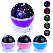 Star Starry Sky LED Night Light Projector Moon Lamp Battery USB Bedroom Christmas Party Projection Lamp for Children Gift