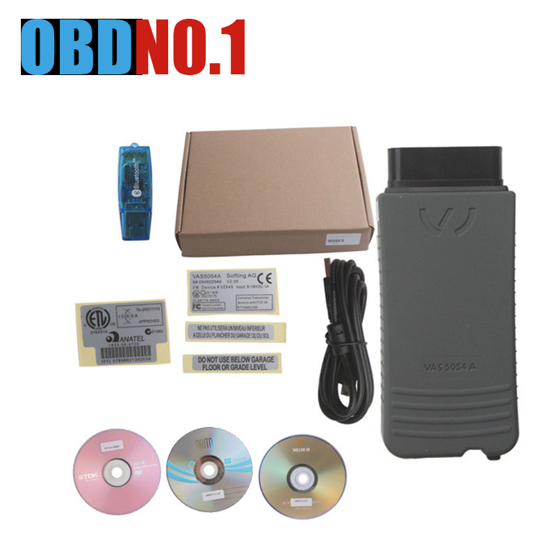 imágenes para 2017 Más Reciente VAS5054A OKI fichas completas V3.0.3 Bluetooth VAS 5054A ODIS Protocolo UDS VAS 5054 con Función de OKI garantía de un año