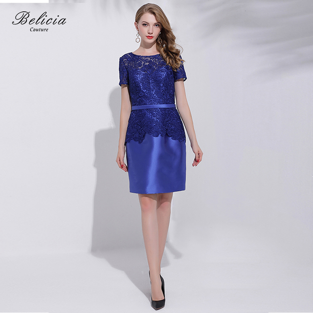 Belicia Couture Mother Of the Bride Evening Dress Elegant Women Dresses Cap  Sleeves for Wedding Party Formal Special Occasion d6304dbbf07d