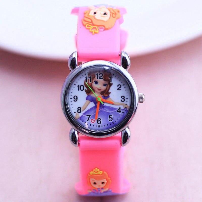 2018 1pcs Cute Sofia Wrist Watch For Children Girls Silicone Clock New Dress Analog Quartz Wristwatch