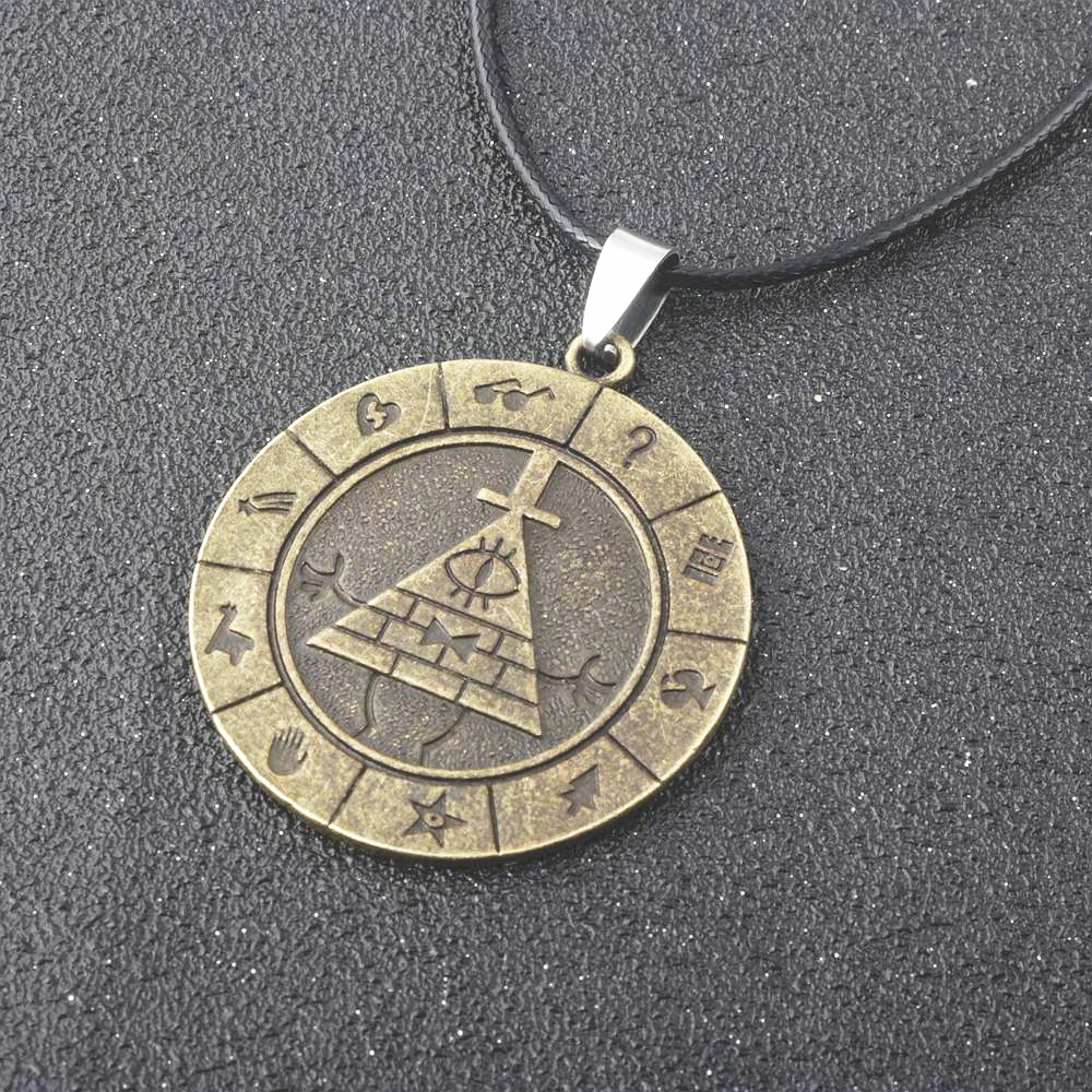 Fashion Anime Gravity Falls Bill Time Gem Cabochon Nacklace keyring pendant boy &girl& children Jewelry