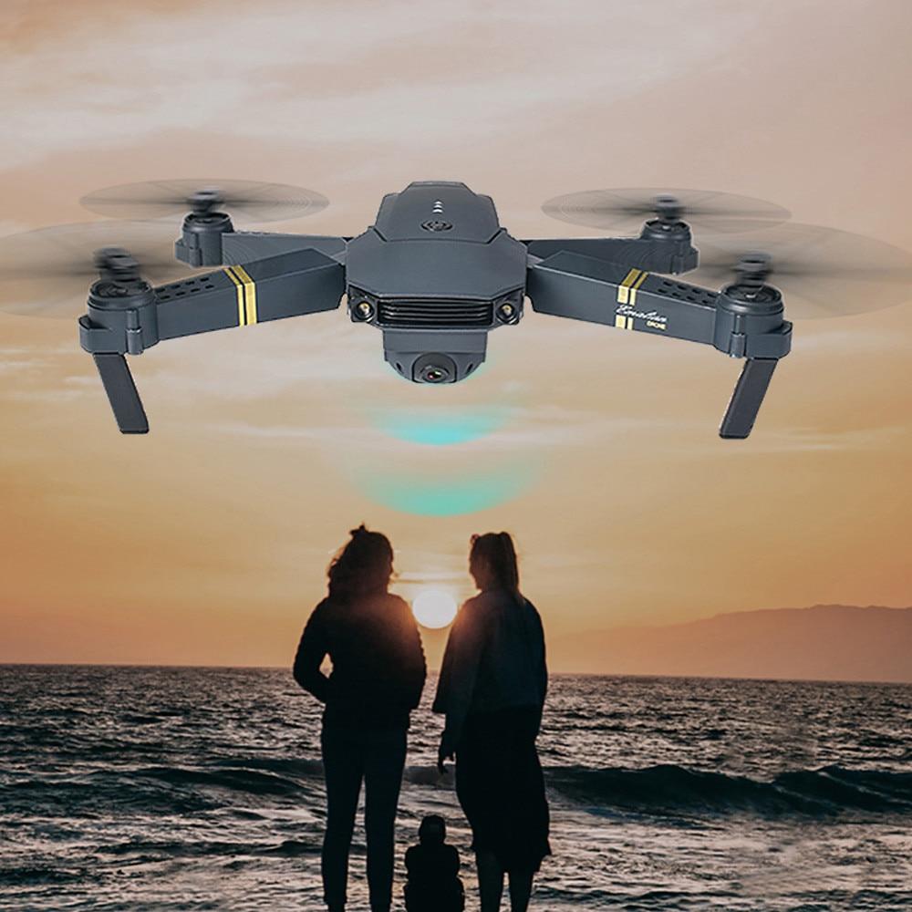 HINST E58 2MP w/720 p WIFI Della Macchina Fotografica FPV Pieghevole Selfie Drone RC Quadcopter RTF + 3 Batterie Ad Alta dinamica Dec18