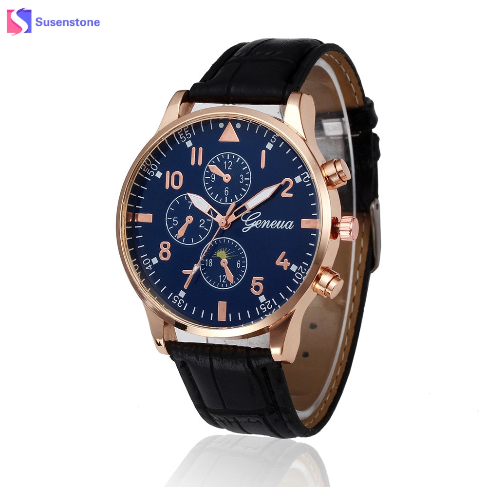 Hot Sale Cheap Watches Men PU Leather Band Analog Quartz Wrist Watch Fashion Simple Style Men Sport Military Watch relogio claudia hot sale creative fashion watches men casual faux leather analog big dial sport style wrist quartz watch dropship