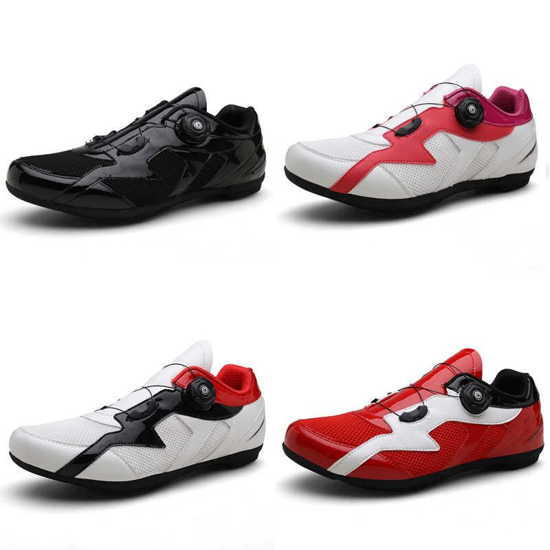 Men Women Cycling Shoes Non-lock Anti-skip Rubble Soles Mtb Shoes Sapatilha Ciclismo Mtb Mountain Bike Shoes Four Colors