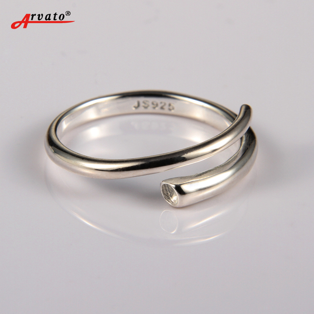 925 Sterling Silver ringen Fashion Simple Adjustable Opening Toe Ring for Women