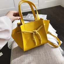 Yellow Bucket Bags Crossbody Bags Designer Large Capacity Handbags for Women 2019 High Quality PU Leather Shoulder Tote Bag цены
